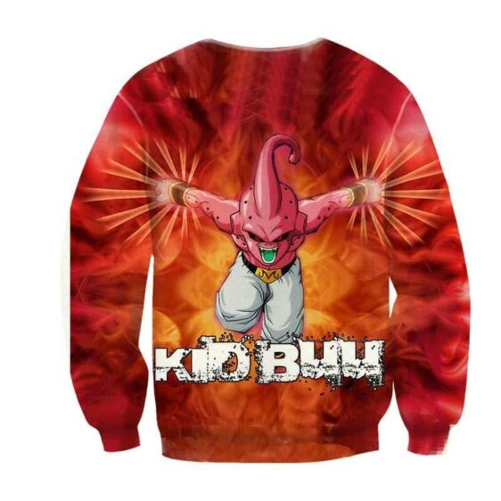 DBZ Kid Buu Villain Inferno Back Ground Dope Winter Sweatshirt