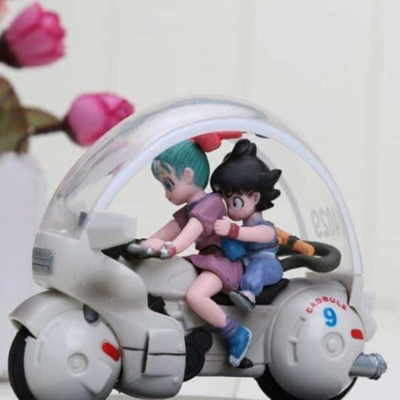 DBZ Kid Goku Bulma Riding Motorcycle PVC Action Figure 8cm - Saiyan Stuff