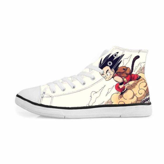 DBZ Kid Goku Flying Nimbus Cloud Classic Sneakers Converse Shoes