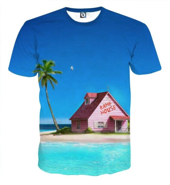 DBZ Master Roshi's Kame House Relax Vibe Concept Graphic T-Shirt