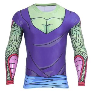 DBZ Piccolo Green Man 3D Fitness Cosplay Long Sleeves T-Shirt