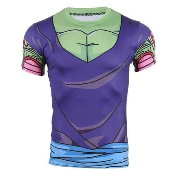 DBZ Piccolo Green Man 3D Skin Gear Cool Cosplay Workout T-Shirt