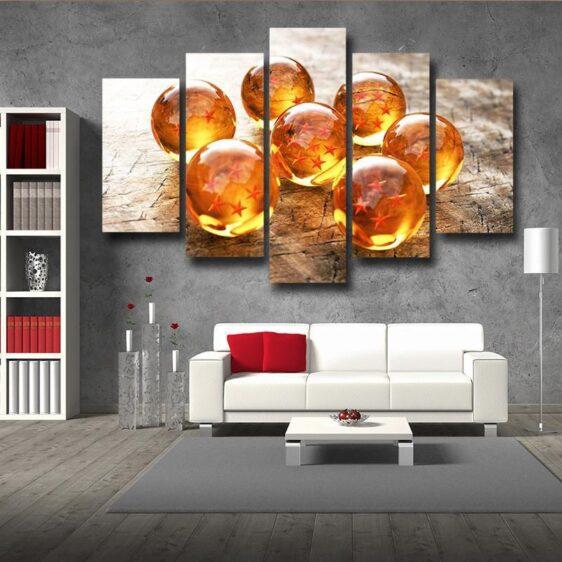 DBZ Shenron Dragon Ball Collection 5pc Wall Art Decor Posters Canvas Prints
