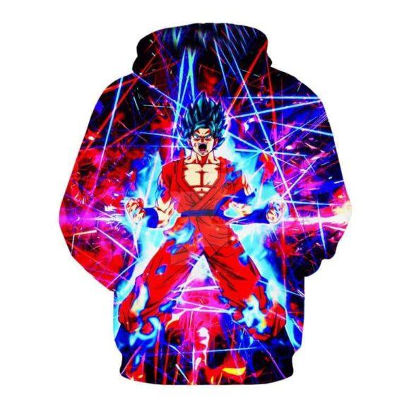 DBZ Super Saiyan Blue Goku Aura Power Angry Fashionable Trendy Hoodie