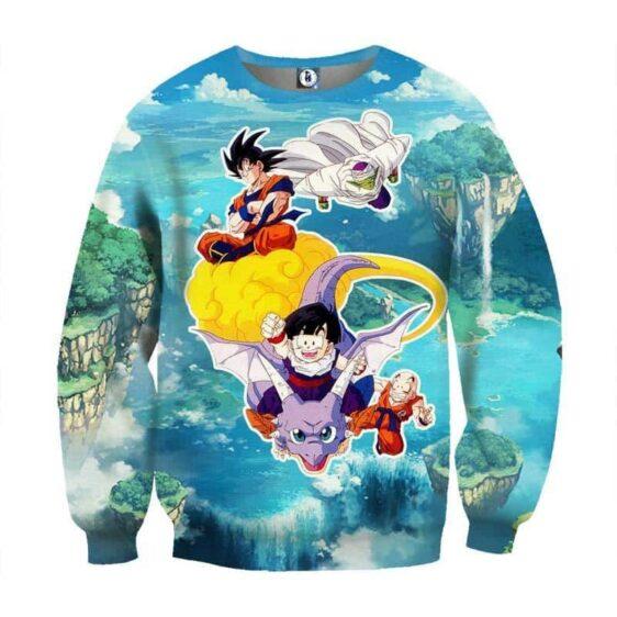 DBZ Super Saiyan Goku Gohan Kid Flying Pretty Blue Color Sweatshirt