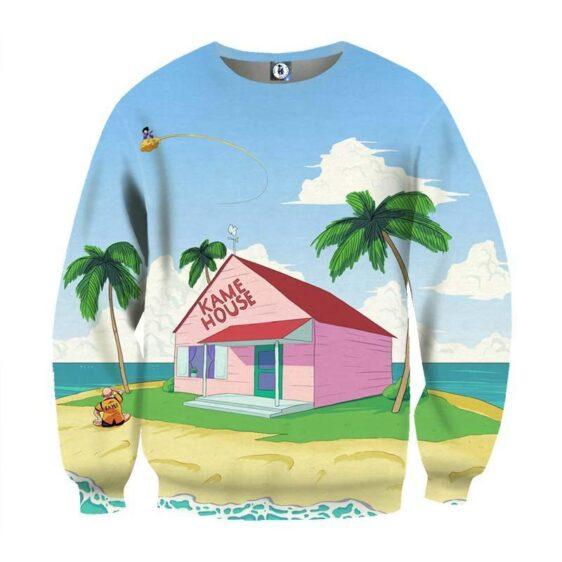 DBZ Super Saiyan Kame House Summer Full Print Design Sweatshirt