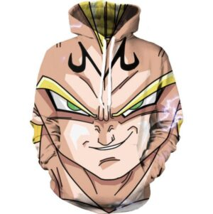 DBZ Super Saiyan Prince Vegeta Smirking Hip Hop 3D Pocket Hoodie - Saiyan Stuff