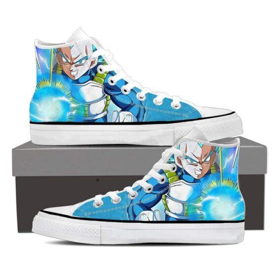 DBZ Super Saiyan Vegeta Epic Energy Punch Blue Sneaker Shoes