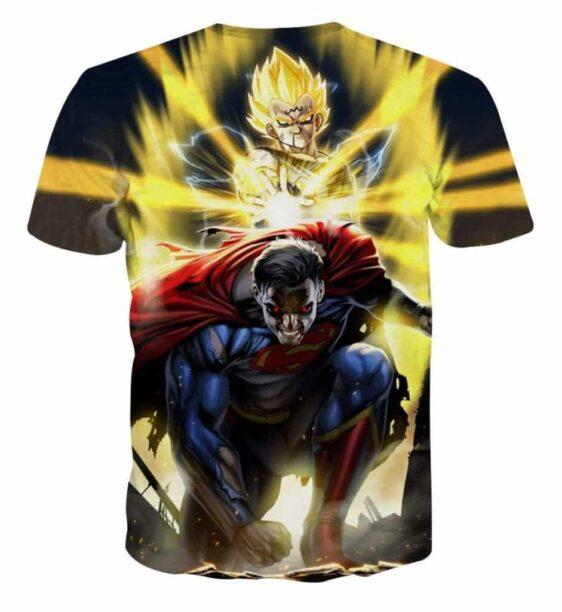 DBZ Super Yellow Majin Vegeta Superman Epic Battle T-Shirt
