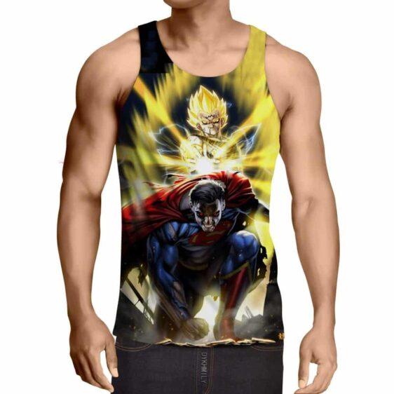DBZ Super Yellow Majin Vegeta Superman Epic Battle Tank Top