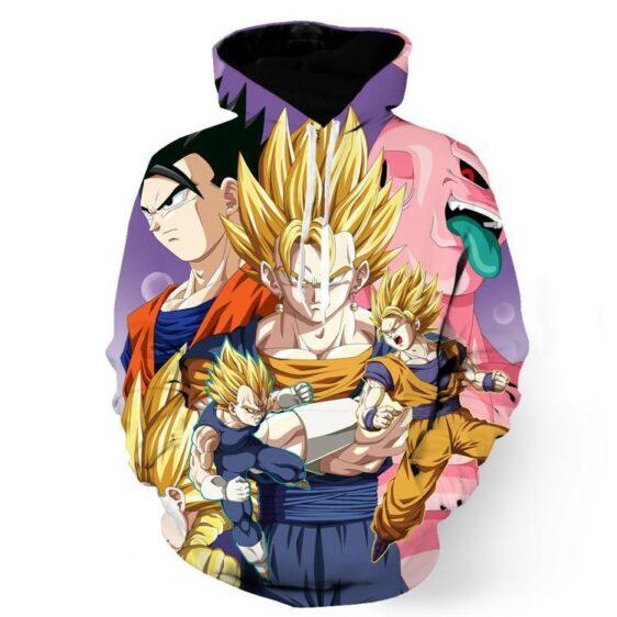 DBZ Vegeta Goku Vegeto Gohan Majin Buu Fusion Fight Epic Design Hoodie