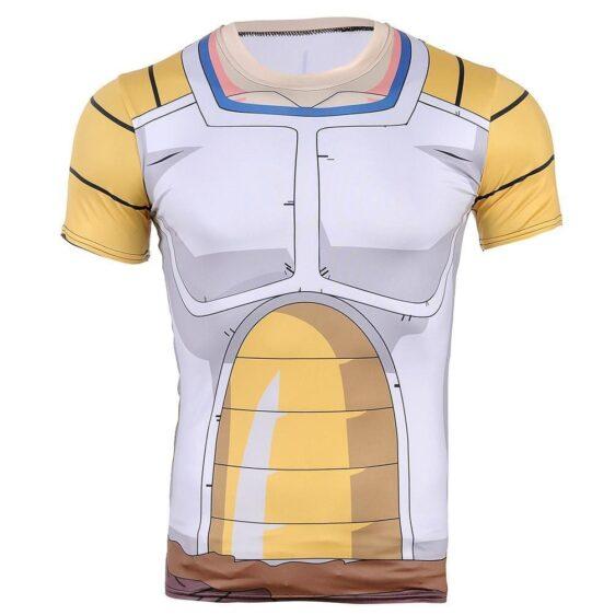 DBZ Vegeta Saiyan Armor Suit Battle Jacket 3D Fitness T-shirt