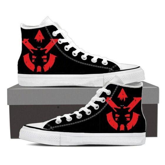 DBZ Vegeta Shadow Cool Red Vegeta Symbol Sneaker Shoes