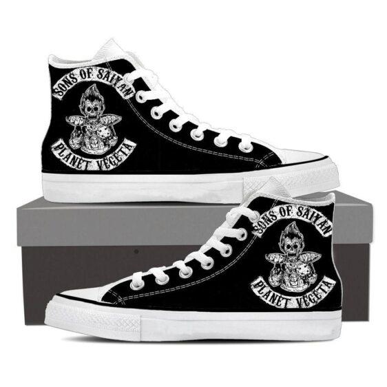 DBZ Vegeta Skeletal Son Of Saiyan Epic Sneaker Shoes