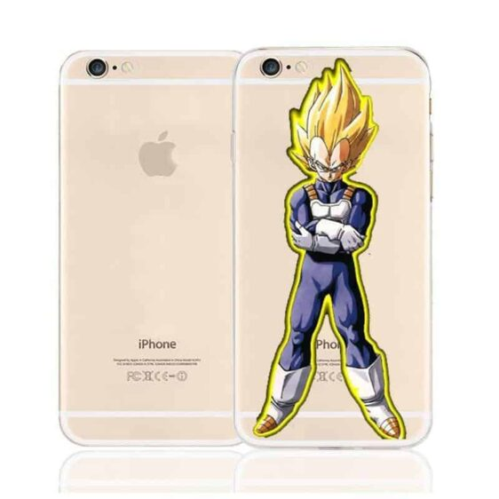 DBZ Vegeta Super Saiyan Prince Character Back Cover for iPhone 6 6s Plus