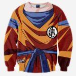 DBZ - Goku Costume Skin Gear Armour 3D Sweatshirt - Saiyan Stuff