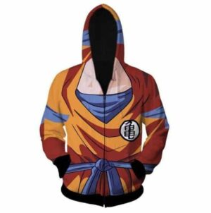 DBZ -  Goku Costume Skin Gear Armour 3D Zip Up Hoodie - Saiyan Stuff