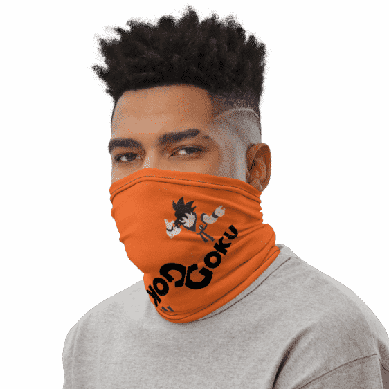 Dragon Ball Z Goku Art Orange Face Covering Neck Gaiter