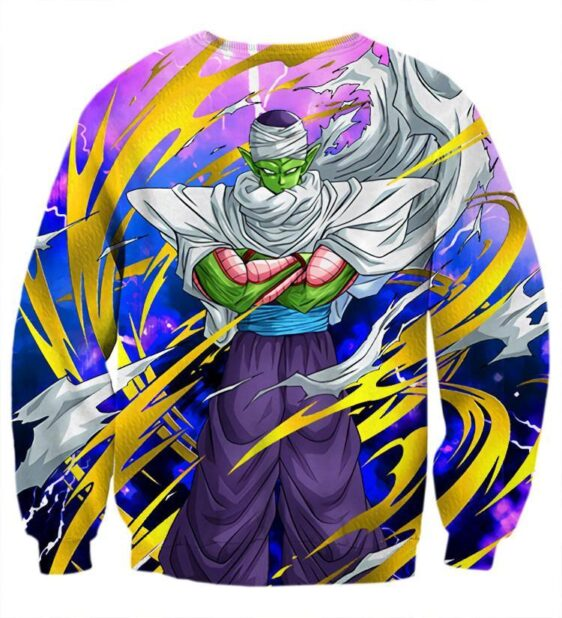 Dragon Ball Angry Piccolo Waiting Fight Aura Yellow Fashion Sweatshirt