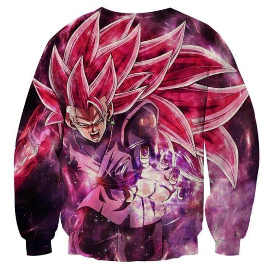 Dragon Ball Black Goku Rose 3 Ultra Instinct Epic Sweatshirt