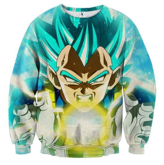 Dragon Ball Blue Vegeta Super Saiyan God Kamehameha Sweater