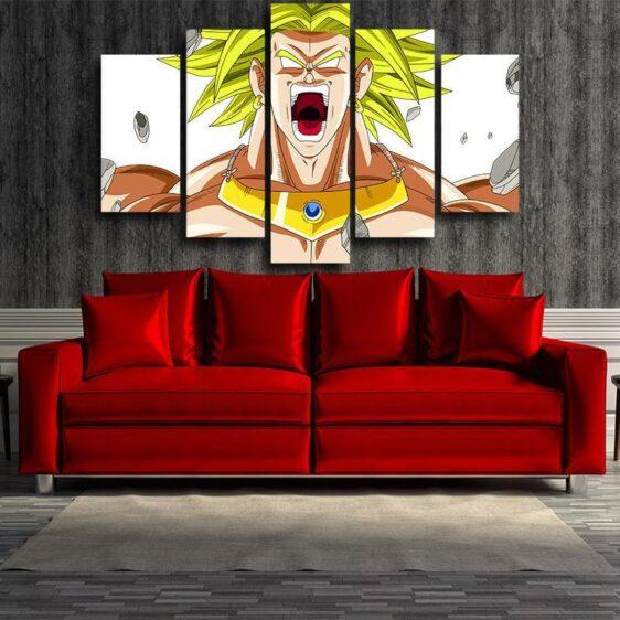 Dragon Ball Broly Super Saiyan 5pc Wall Art Decor Posters Canvas Prints