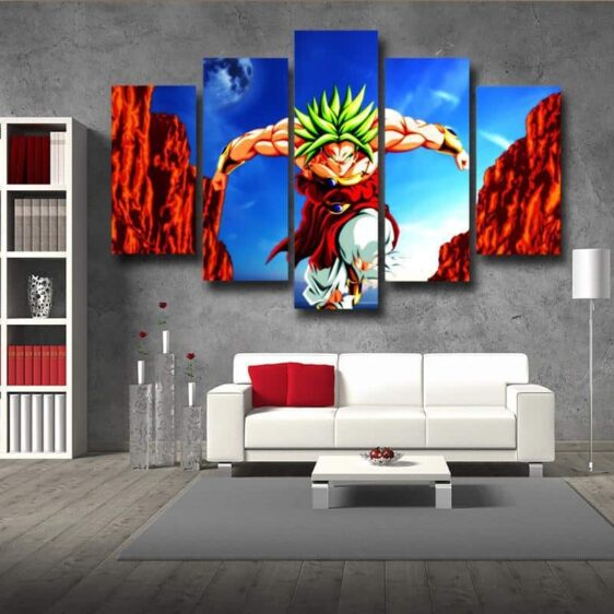 Dragon Ball Broly Super Saiyan Villain 5pc Wall Art Decor Posters Canvas Prints