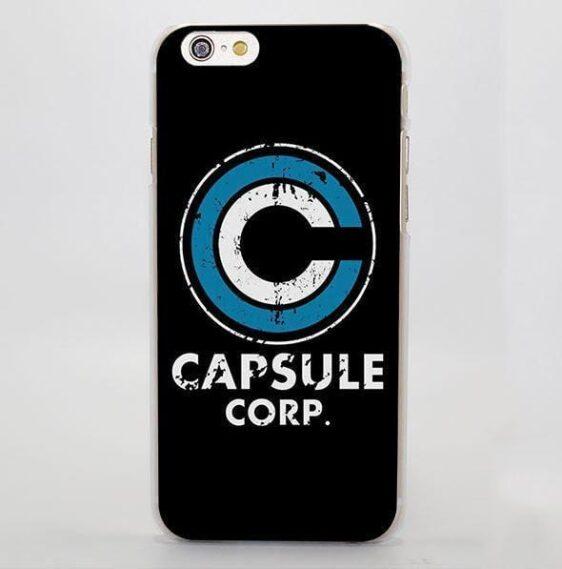 Dragon Ball Capsule Corp Logo Simple Design iPhone 4 5 6 7 Plus Case