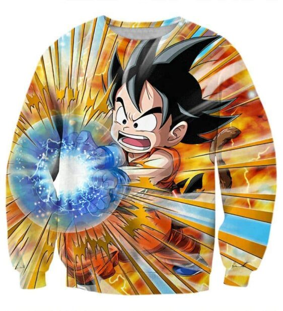 Dragon Ball Cute Goku Kid Kamehameha Awesome Trending Design Sweatshirt
