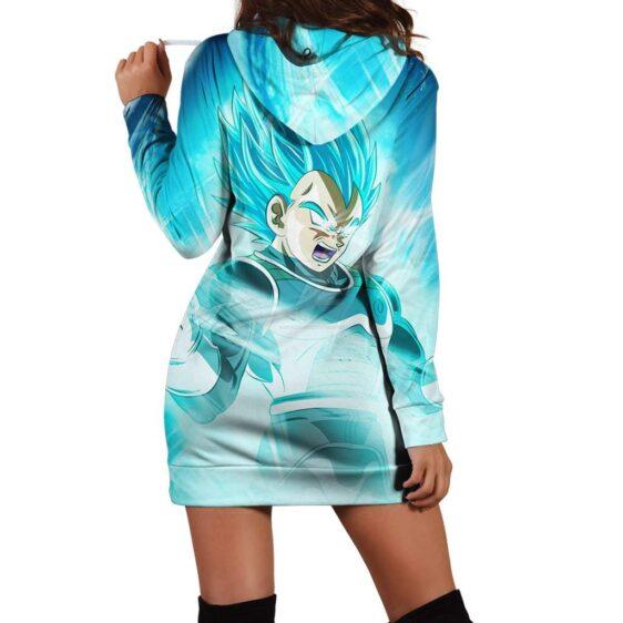 Dragon Ball Epic Super Saiyan God Vegeta Blue Hoodie Dress
