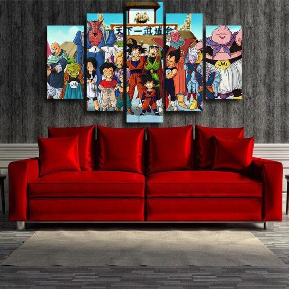Dragon Ball Fighter Kami Saiyan DBZ 5pc Wall Art Decor Posters Canvas Prints