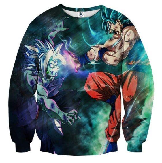 Dragon Ball Fused Zamasu Goku Blue Super Saiyan Kaioken Sweater