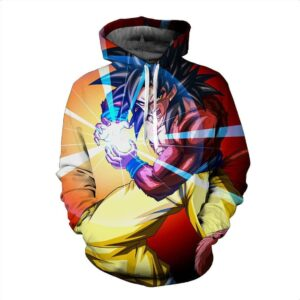 Dragon Ball GT Son Goku SSJ4 Great Ape Tail Kamehameha 3D Hoodie - Saiyan Stuff
