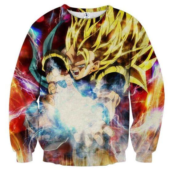 Dragon Ball Gogeta 3 Super Saiyan Cool Kamehameha Wave Sweater