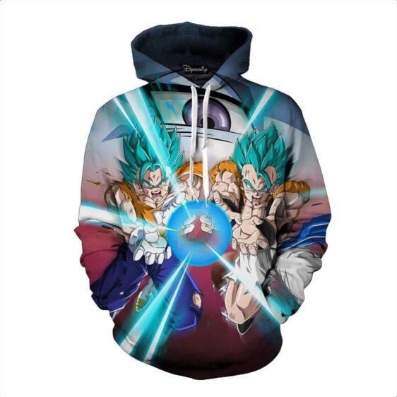 Dragon Ball Gogeta Vegito Fusion Kamehameha Trending Style Pocket Hoodie