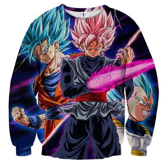 Dragon Ball Goku 2 Goku Rose Vegeta 2 Ultra Instinct Sweater