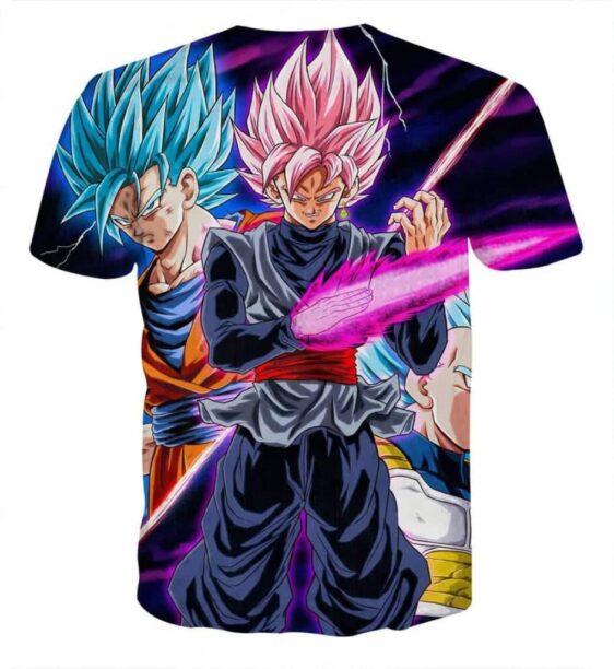 Dragon Ball Goku 2 Goku Rose Vegeta 2 Ultra Instinct T-Shirt