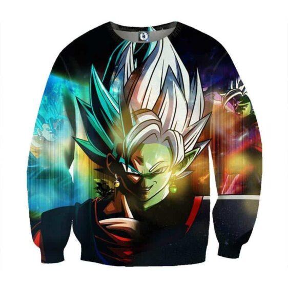 Dragon Ball Goku Black Fusion Zamasu Evil Villain Graphic Print Sweatshirt