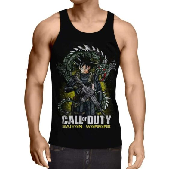 Dragon Ball Goku Call Of Duty Saiyan Warfare Epic Tank Top