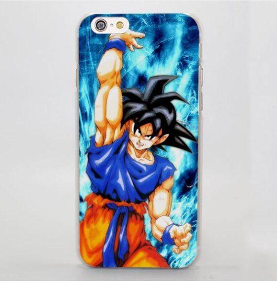 Dragon Ball Goku Cast Spirit Bomb Fan Art Style iPhone 4 5 6 7 Plus Case