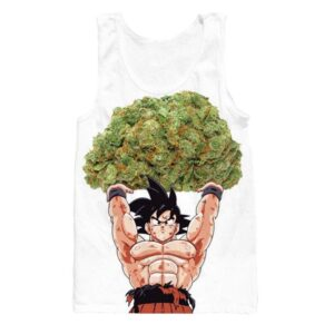 Dragon Ball Goku Ganja Weed Marijuana Spirit Bomb Tank Top - Saiyan Stuff