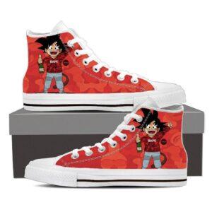 Dragon Ball Goku Kid BAPE Style Urban Theme Converse Concept Sneaker Shoes