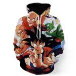 Dragon Ball Goku Piccolo Krillin Heroes Group Awesome Design Hoodie
