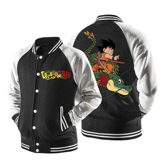 Dragon Ball Goku Riding Super Shenron Baseball Varsity Jacket