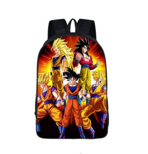 Dragon Ball Goku SSJ Transformation Dope School Backpack Bag