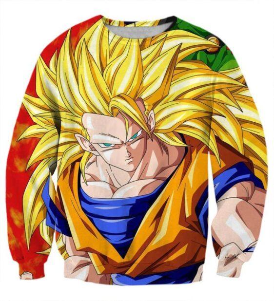 Dragon Ball Goku Super Saiyan 3 Power Hero Trending Design Sweatshirt