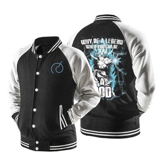 Dragon Ball Goku Super Saiyan Blue Baseball Varsity Jacket