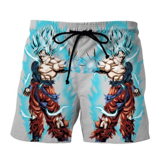 Dragon Ball Goku Super Saiyan God Blue SSGSS Cool Design Summer Shorts