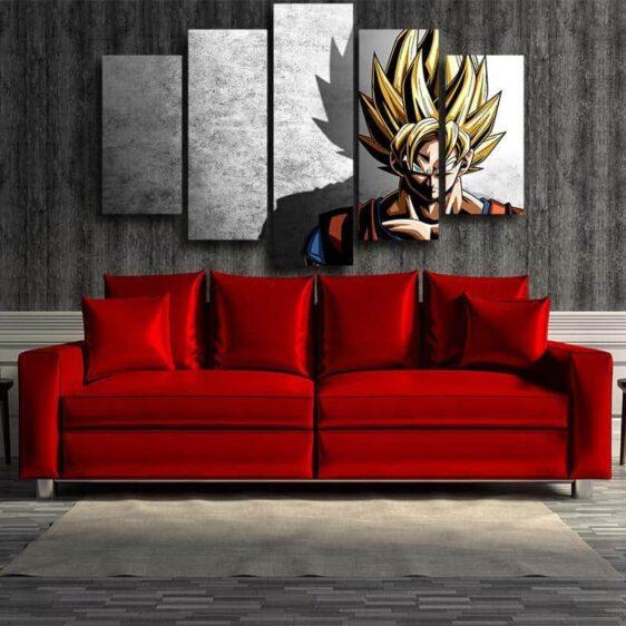 Dragon Ball Goku Super Saiyan Hero Japan Anime 5pc Canvas Prints Wall Art