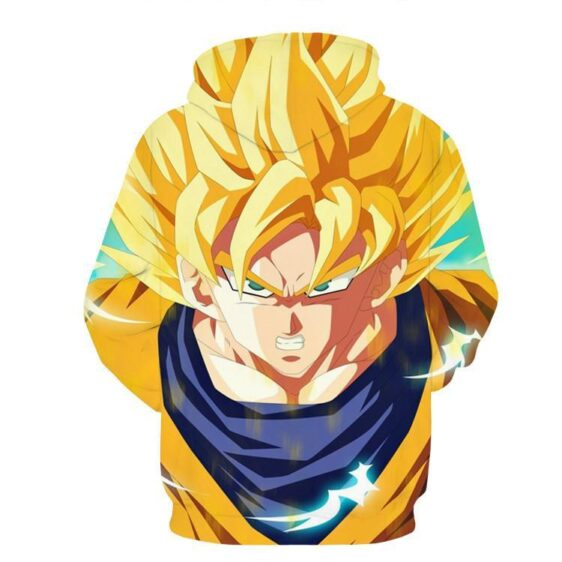 Dragon Ball Goku Super Saiyan Hero Thunder Design Street Style Hoodie